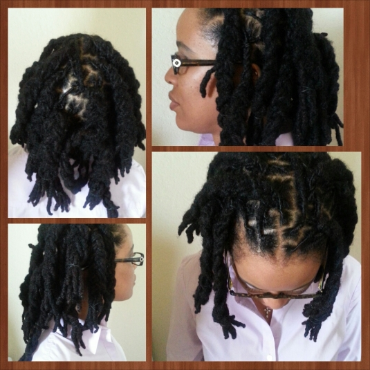 Plaited locs